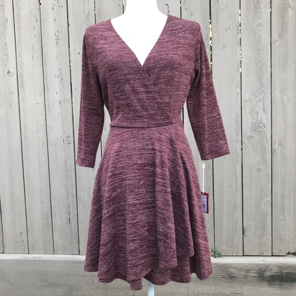 Mossimo Supply Co. Dresses & Skirts - Mossimo Dress Faux Wrap Knit Mini Size Large NWT